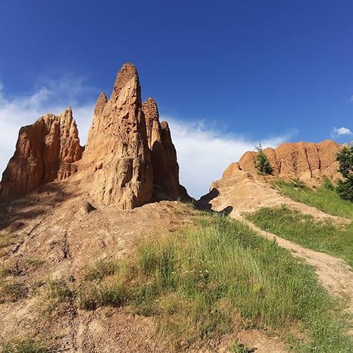 Peščane piramide, prirodni fenomen